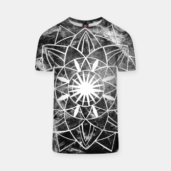 Thumbnail image of Star Mandala on Enigmatic Black Marble #1 #decor #art  T-Shirt, Live Heroes