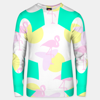 Thumbnail image of Flamingo vibrant pattern Cotton sweater, Live Heroes