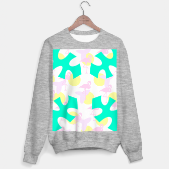 Thumbnail image of Flamingo vibrant pattern Sweater regular, Live Heroes