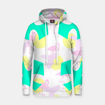 Thumbnail image of Flamingo vibrant pattern Cotton hoodie, Live Heroes