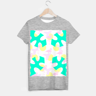 Thumbnail image of Flamingo vibrant pattern T-shirt regular, Live Heroes