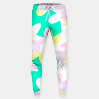 Thumbnail image of Flamingo vibrant pattern Cotton sweatpants, Live Heroes
