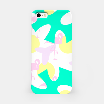 Thumbnail image of Flamingo vibrant pattern iPhone Case, Live Heroes
