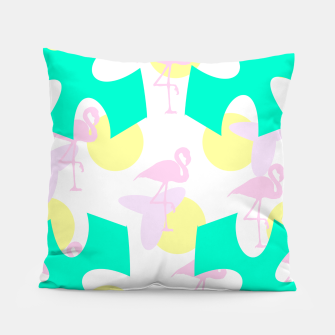 Thumbnail image of Flamingo vibrant pattern Pillow, Live Heroes