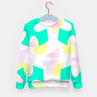 Thumbnail image of Flamingo vibrant pattern Kid's sweater, Live Heroes