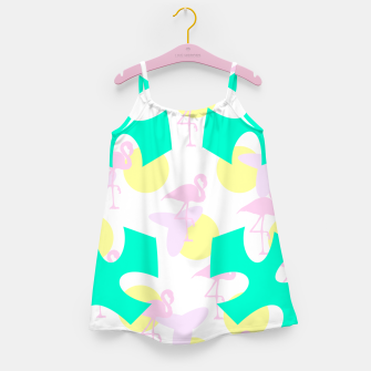 Thumbnail image of Flamingo vibrant pattern Girl's dress, Live Heroes