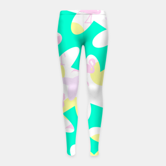 Thumbnail image of Flamingo vibrant pattern Girl's leggings, Live Heroes
