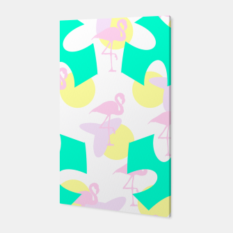 Thumbnail image of Flamingo vibrant pattern Canvas, Live Heroes