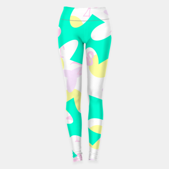 Thumbnail image of Flamingo vibrant pattern Leggings, Live Heroes