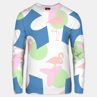 Thumbnail image of Flamingo blue motif Cotton sweater, Live Heroes