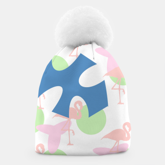 Thumbnail image of Flamingo blue motif Beanie, Live Heroes