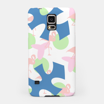Thumbnail image of Flamingo blue motif Samsung Case, Live Heroes