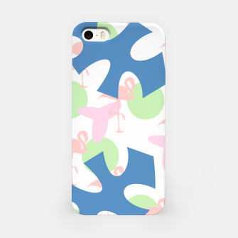 Thumbnail image of Flamingo blue motif iPhone Case, Live Heroes