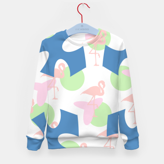 Thumbnail image of Flamingo blue motif Kid's sweater, Live Heroes