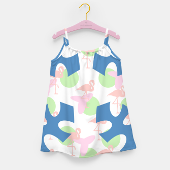 Thumbnail image of Flamingo blue motif Girl's dress, Live Heroes