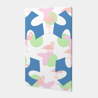 Thumbnail image of Flamingo blue motif Canvas, Live Heroes