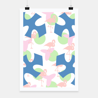 Thumbnail image of Flamingo blue motif Poster, Live Heroes