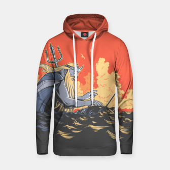 Thumbnail image of Poseidon programming Cotton hoodie, Live Heroes