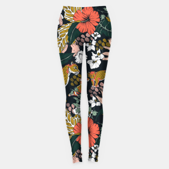 Thumbnail image of Animal print dark jungle Leggings, Live Heroes