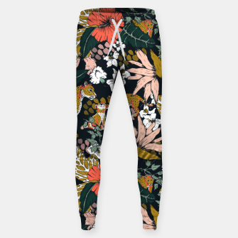 Thumbnail image of Animal print dark jungle Pantalones de chándal de algodón, Live Heroes