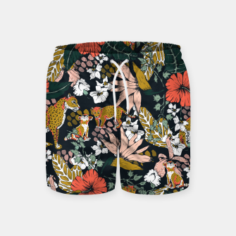 Thumbnail image of Animal print dark jungle Pantalones de baño, Live Heroes