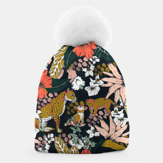 Thumbnail image of Animal print dark jungle Gorro, Live Heroes