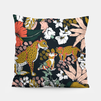Thumbnail image of Animal print dark jungle Almohada, Live Heroes