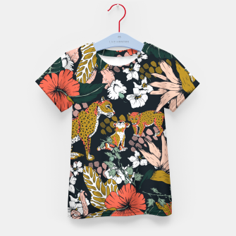 Thumbnail image of Animal print dark jungle Camiseta para niños, Live Heroes