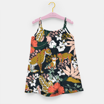 Thumbnail image of Animal print dark jungle Vestido para niñas, Live Heroes