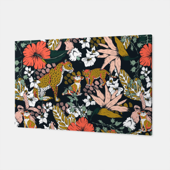 Thumbnail image of Animal print dark jungle Canvas, Live Heroes