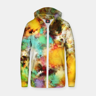 Thumbnail image of A distorted impact Cotton zip up hoodie, Live Heroes