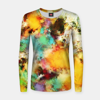Thumbnail image of A distorted impact Woman cotton sweater, Live Heroes