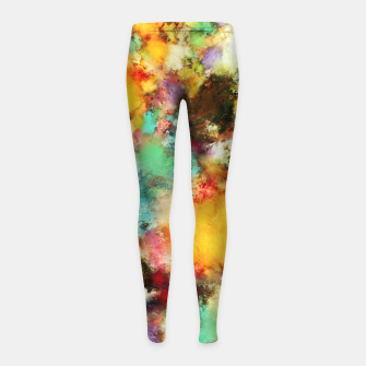 Thumbnail image of A distorted impact Girl's leggings, Live Heroes