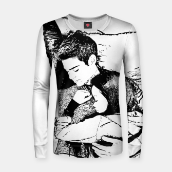 Thumbnail image of Peter kavinsky and lara jean Woman cotton sweater, Live Heroes