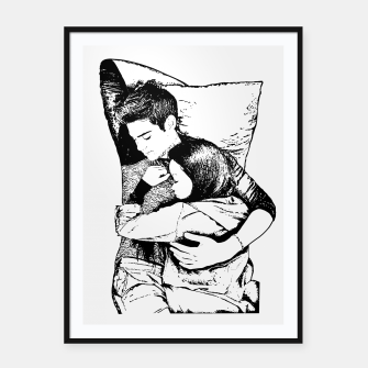 Thumbnail image of Peter kavinsky and lara jean Framed poster, Live Heroes