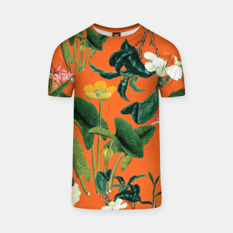 Thumbnail image of Vintage flowers orange T-shirt, Live Heroes