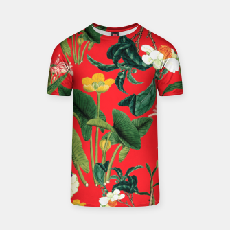 Thumbnail image of Vintage flowers green T-shirt, Live Heroes