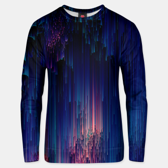 Thumbnail image of Glitch of Fantasy - Abstract Glitchy Pixel Art Cotton sweater, Live Heroes