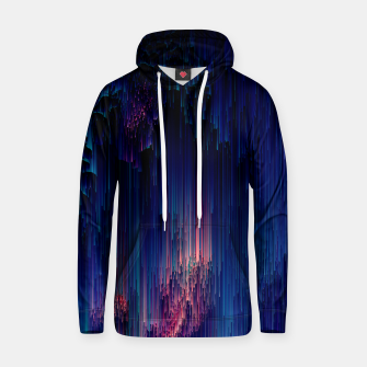 Thumbnail image of Glitch of Fantasy - Abstract Glitchy Pixel Art Cotton hoodie, Live Heroes