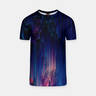 Thumbnail image of Glitch of Fantasy - Abstract Glitchy Pixel Art T-shirt, Live Heroes