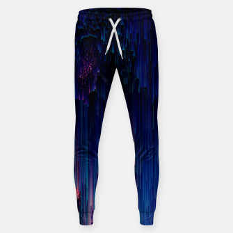 Thumbnail image of Glitch of Fantasy - Abstract Glitchy Pixel Art Cotton sweatpants, Live Heroes