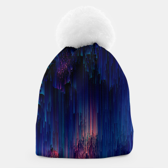 Thumbnail image of Glitch of Fantasy - Abstract Glitchy Pixel Art Beanie, Live Heroes