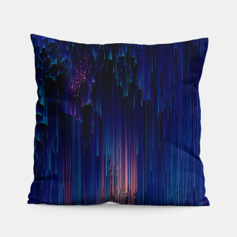 Thumbnail image of Glitch of Fantasy - Abstract Glitchy Pixel Art Pillow, Live Heroes