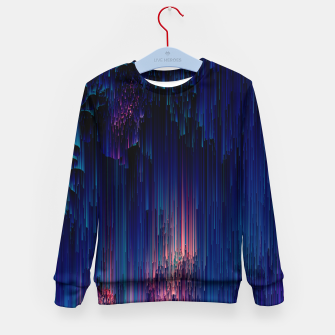 Thumbnail image of Glitch of Fantasy - Abstract Glitchy Pixel Art Kid's sweater, Live Heroes