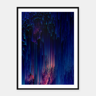 Thumbnail image of Glitch of Fantasy - Abstract Glitchy Pixel Art Framed poster, Live Heroes
