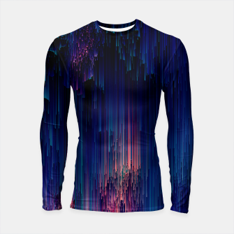 Thumbnail image of Glitch of Fantasy - Abstract Glitchy Pixel Art Longsleeve rashguard , Live Heroes