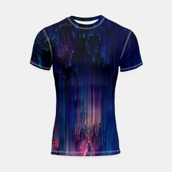 Thumbnail image of Glitch of Fantasy - Abstract Glitchy Pixel Art Shortsleeve rashguard, Live Heroes