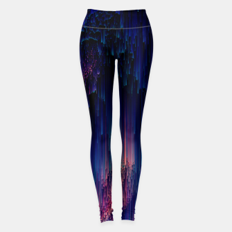Thumbnail image of Glitch of Fantasy - Abstract Glitchy Pixel Art Leggings, Live Heroes