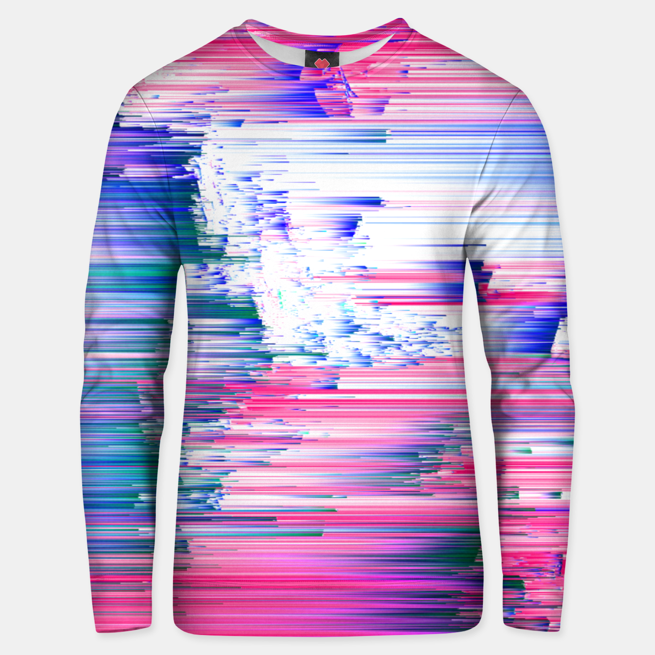 Image of Pastel 90s Glitch - Abstract Pixel Art Cotton sweater - Live Heroes
