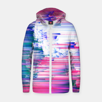 Miniaturka Pastel 90s Glitch - Abstract Pixel Art Cotton zip up hoodie, Live Heroes